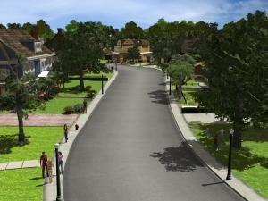 Wisteria Lane: riproduzione in 3D realizzata per il videogioco